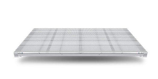 pantalla LED transparente cabinets aluminio